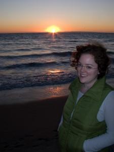 sally-santa-monica-beach-sunset